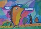 III место. Якименко Макар, 7 лет. Хитрый ёжик. Лицей искусств, Тольятти. Ященко А.В.