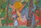 I место. Лукошкина Анастасия, 6 лет. Красная шапочка и серый волк. Горшеня, Тольятти. Богучарская Т.В.