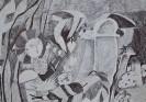 I место. Москвитин Михаил, 11 лет.Неудачный полет Незнайки.Народная изостудия Радуга.г. Тольятти.Педагог Косточка Л.А.