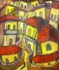 Саламов Б.З. Шекинская улица. 1997. Холст, масло. 60х70. Ж-472, КП-7558_1