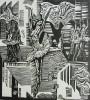Зырянов А.П. Лебединое озеро.1985. Бумага, линогравюра. 49,5х45. Г-490, КП-844_1