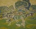Воробьева И.Н. Пастушонок. 1969. Бумага, цв.гравюра на картоне. Г-143, КП-294_1