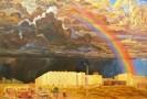 Бузин В. А.Город в степи. Радуга.1974-1976.Холст,масло.99х144.Ж-138 КП-355