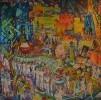 Вороновский Д. Д. Страстная площадь. Праздник 10-летия Октября. 1987. Холст, масло. Ж-6 КП-6
