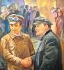 Зихерман Ш. М. Портрет В. И. Ленина и Т. Самуэли. 1977-1978. Холст, масло. 110х100. Ж-155 КП-414