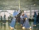 Кендо, бой деревянными мечами - это дисциплина, концентрация, скорость. Бумага, цветная печать. 45х58. ХФ-219, КП-1710