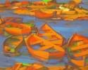 Галета С. Г. Лодки.2002.Х.,к.,а., 60х75. КП-8157,Ж-513