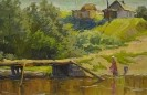 Бузин В. А. В полдень у реки.1968.К.,м.,30х46. КП-8015, Ж-444