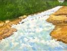 Козочкин В. В. Река Ольховка в Кисловодске.1988.Орг.,м.,30х40.КП-2025,Ж-371