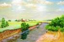 Козочкин В. В. Река Люля. Чувашия. 1996. ДВП.м., 31,5х44,5. КП-8159, Ж-515