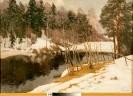 Каманин А. М. Сходят снега.1981.Х.,м.,68х95. КП-52,Ж-48