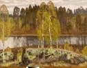 Галахов Н. Н.Карельские березы.Х.,м.,127х160. КП-643,Ж-289