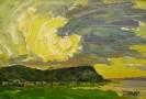 Бузин В. А. Солнце. 1993. Картон, масло. 35х49. Ж-365, КП-2013