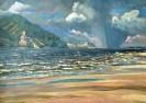 Репин А. З. Шторм на Волге у Верблюд-горы. 1999. Оргалит, масло. 50х70. Ж-519, КП-8170