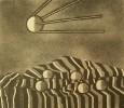Вальцефер В.А. Натюрморт с яблоками и спутником.1980. Бумага, литография. 47х54. Г-455, КП-809_1