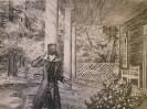 Данилов А.В. В Тригорское. 1985. Бумага, литография. 47х61,5. Г-480, КП-834 _1