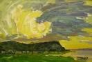 Бузин В.А. Солнце.1993.Картон,масло.35х49,5.Ж-365 КП-2013_1