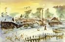 Сабаев В.Н.  Зимнее солнце.1992.Бумага,акварель.29х43.Г-4489 КП-8497_1