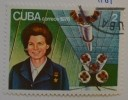 Коллекция марок Кубы. Терешкова.1976. Бумага, цветная печатью 3,3х4,4. Ф-1361 КП-4101_1